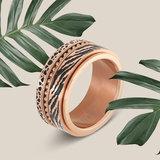 iXXXi Ring 4mm Zebra Rose Goudkleurig_