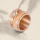 iXXXi Ring 1mm Rose Goudkleurig Zirkonia 1 Stone Light Saphire Crystal_