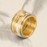 iXXXi Ring 1mm Goudkleurig Zirkonia 1 Stone Blond Flare Crystal_