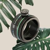 iXXXi Ring 2mm Blue Amber Black_