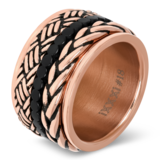 iXXXi Ring 4mm Edelstaal Wheat Knot Rose Goud-kleurig_