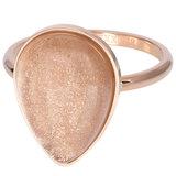 iXXXi Ring 2mm Royal Stone Drop Champagne Rose Goudkleurig_
