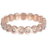 iXXXi Ring 4mm Big Circle Stone Rose Goudkleurig_