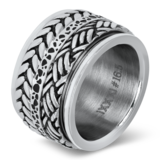 iXXXi Ring 4mm Edelstaal Leaf Knot Zilver-kleurig_