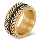 iXXXi Ring 4mm Edelstaal Leaf Knot Rose Goud-kleurig_