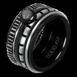 iXXXi Ring 4mm Edelstaal Piano Zilver-kleurig_