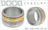 iXXXi Ring 4mm Glitter Confetti  Rose Goudkleurig_