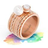iXXXi Ring 2mm Edelstaal Oval Shape Rose Goudkleurig_