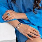 iXXXi Ring 4mm Zilverkleurig Double Line White_