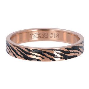 iXXXi Ring 4mm Zebra Rose Goudkleurig
