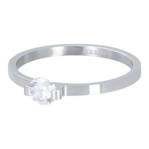 iXXXi Ring 2mm Mini Glamour Stone Zilverkleurig