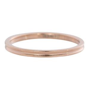 iXXXi Ring 2mm Rose Goudkleurig Small Ribbel