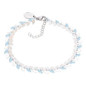 iXXXi Armband Malediven Blue Zilverkleurig