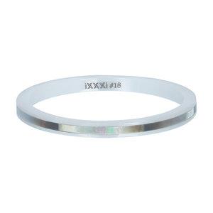 iXXXi Ring 2mm Keramisch Grey Shell