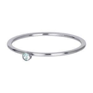 iXXXi Ring 1mm Zilverkleurig Zirkonia 1 Stone Green Crystal