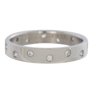 iXXXi Ring 4mm Edelstaal Zilverkleurig Multi Zirkonia