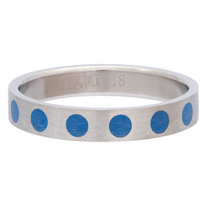 iXXXi Ring 4mm Edelstaal Round Blue
