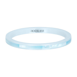 iXXXi Ring 2mm Keramisch Blue Shell
