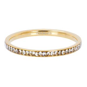 iXXXi Ring 2mm Goudkleurig Small Zirkonia Crystal