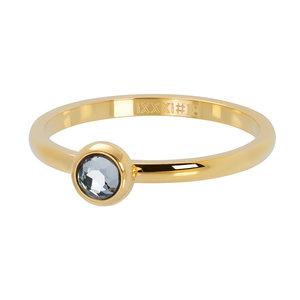 iXXXi XS Ring 2mm Zirkonia White Stone Goudkleurig