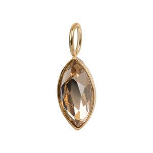 iXXXi Charm Royal Diamond Zirkonia Facet Topaz Goudkleurig