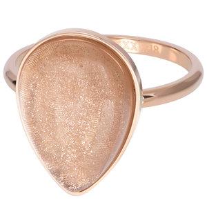 iXXXi Ring 2mm Royal Stone Drop Champagne Rose Goudkleurig