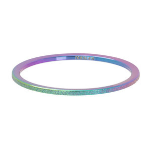 iXXXi Ring 1mm Rainbow Sandblasted