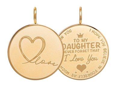 iXXXi Hanger Daughter Love big Zilverkleurig