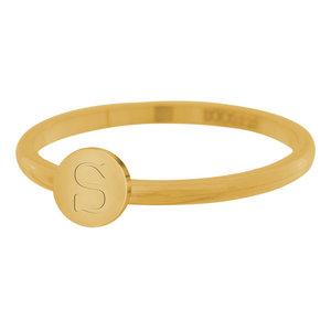 iXXXi Letter Ring 2mm Edelstaal Goudkleurig S