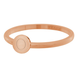 iXXXi Letter Ring 2mm Edelstaal Rose Goudkleurig O