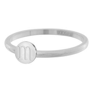 iXXXi Letter Ring 2mm Edelstaal Zilverkleurig M
