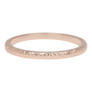 iXXXi Ring 2mm Edelstaal Dancer Rose Goudkleurig
