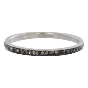 iXXXi Ring 2mm Stainless Steel Small Zirkonia Black