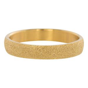 iXXXi Ring 4mm Edelstaal Goudkleurig Sandblasted