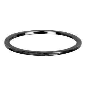 iXXXi Ring 1mm Edelstaal Black Wave