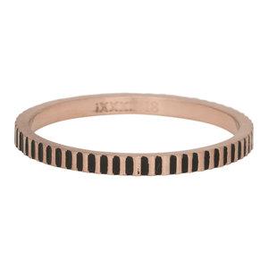 iXXXi Ring 2mm Edelstaal Cartels Rose Goud-kleurig