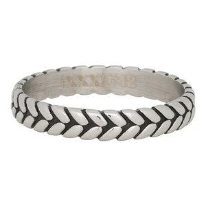 iXXXi Ring 4mm Edelstaal Leaf Knot Zilver-kleurig