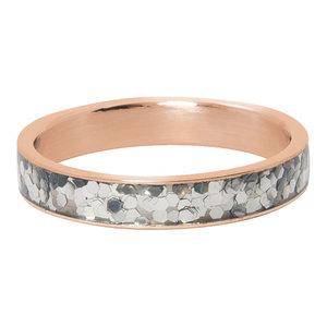 iXXXi Ring 4mm Glitter Confetti  Rose Goudkleurig
