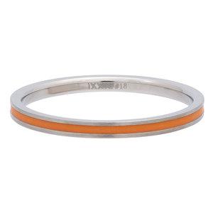 iXXXi Ring 2mm Edelstaal Line Orange