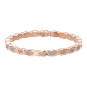 iXXXi Ring 2mm Edelstaal Oval Shape Rose Goudkleurig