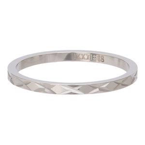 iXXXi Ring 2mm Edelstaal X Row Zilverkleurig