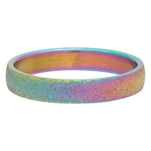 iXXXi Ring 4mm Edelstaal Sandblasted Rainbow