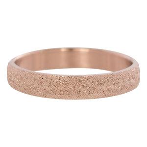 iXXXi Ring 4mm Edelstaal Rose Goudkleurig Sandblasted
