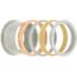 iXXXi Ring 4mm Edelstaal Goudkleurig 12mm Cateye Pink_