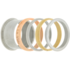 iXXXi Ring 4mm Edelstaal Rose Goudkleurig Diamant Zirkonia Champagne_