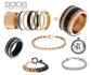 iXXXi Ring 1mm Bruin Sandblasted_